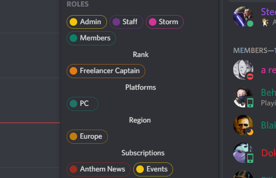How to make role categories in Discord