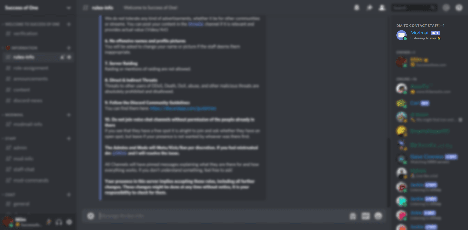 Image of what the Modmail looks like in your Server Sidebar